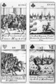 Playing cards commemorating the War of the Spanish Succession 1702-13 - Robert Spofforth