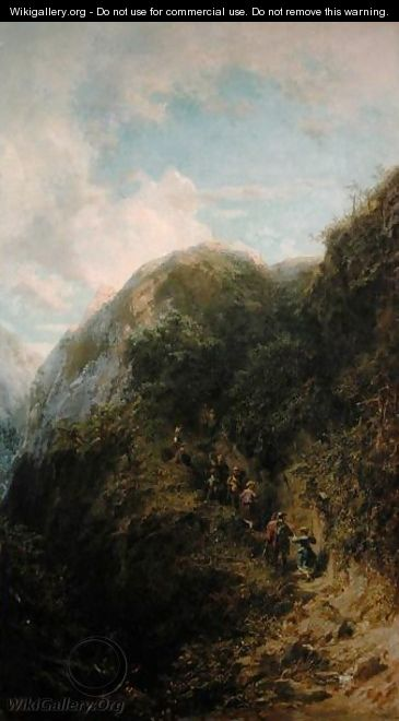 Tourists in the Mountain - Carl Spitzweg