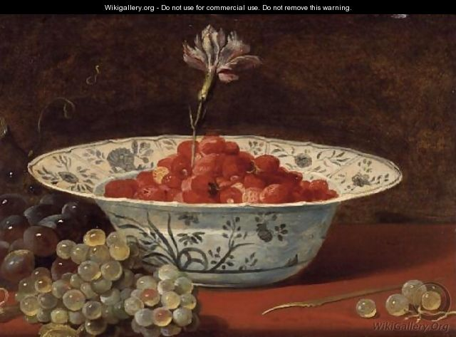 Strawberries with a carnation - Frans Snyders