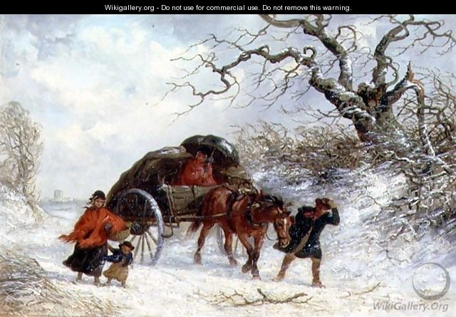 The Carriers Cart - Winter - Thomas Smythe