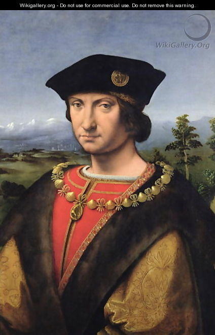 Portrait of Charles dAmboise 1471-1511 Marshal of France - Antonio da Solario