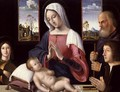 Virgin and Child with St. Joseph and Donor, 1514 - Antonio da Solario