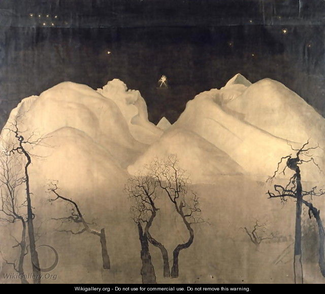 Winter Night in the Mountains, 1901-02 - Harald Oscar Sohlberg