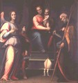 Madonna and Child with Saints Augustine, Tobias and the Archangel Raphael - Bartolommeo Sogliani