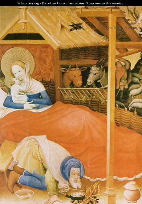 The Birth of Christ, 1404 - Conrad von Soest