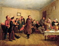 A merchants evening party - Leonid Ivanovich Solomatkin