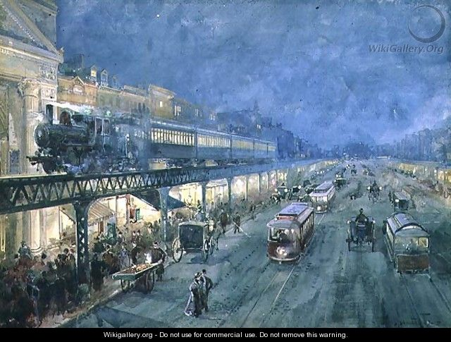 The Bowery at Night, 1895 - William Louis Jnr. Sonntag