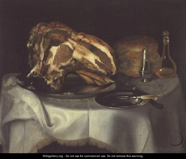Still Life with Joint of Beef on a Pewter Dish, c.1750-60 - George, of Chichester Smith