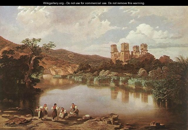 The Ruins of Diosgyor Castle 1860 - Karoly Telepy