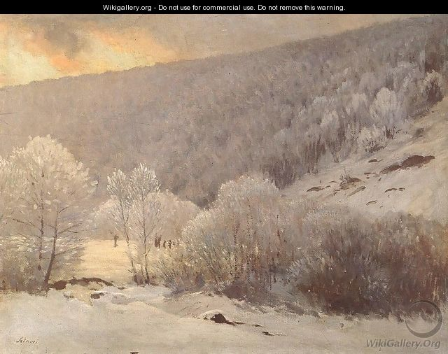 Winter between 1901 and 1905 - Pal Merse Szinyei