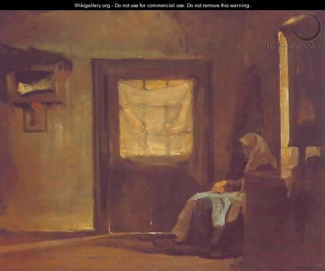The Artists Mother in her Room 1905 - Janos Tornyai