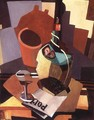 Still-life with Bottle and Glass 1926-28 - Lajos Tihanyi