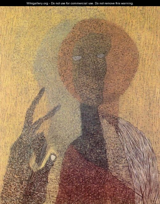 Self-portrait with Hold-up Icon 1936 - Lajos Vajda
