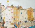 Italian Town at the Seashore - Endre Vadasz