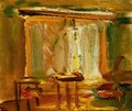 Interior with Curtained Window 1929 - Janos Tornyai