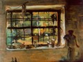 Window of the Atelier 1934 - Janos Tornyai