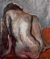 Sitting Nude from the Back 1919 - Janos Tornyai