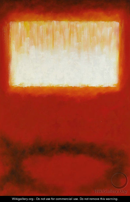 White Over Red - Mark Rothko (inspired by)