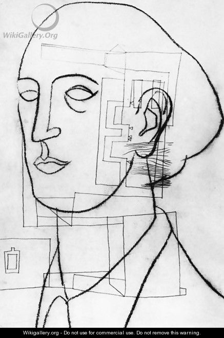 Self-portrait with Architecture 1936 - Lajos Vajda