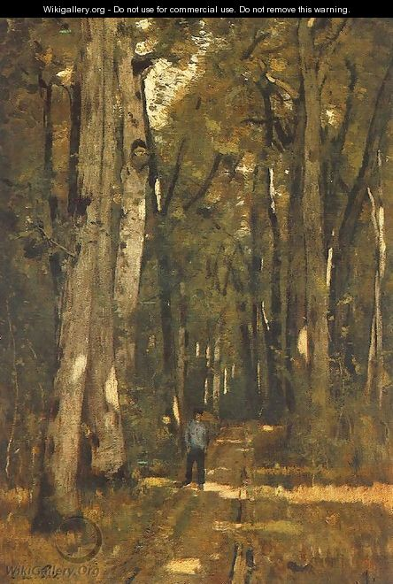 In the Forest of Fontainebleau 1876 - László Paal