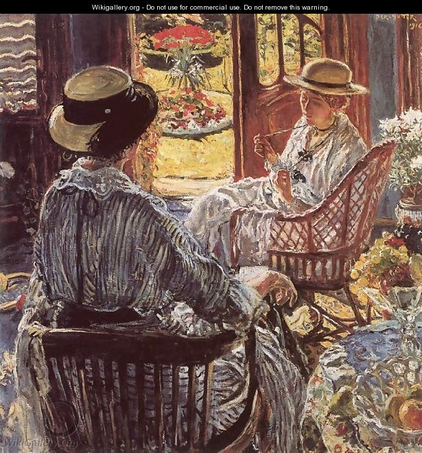 On the Terrace 1916 - Izsak Perlmutter
