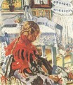 Girl Sitting in a Room - Izsak Perlmutter