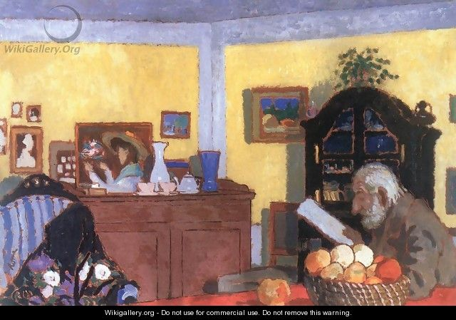 Uncle Piacsek in front of the Black Sideboard 1906 - Jozsef Rippl-Ronai