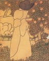 Woman in the Garden Walking Woman 1895 - Jozsef Rippl-Ronai