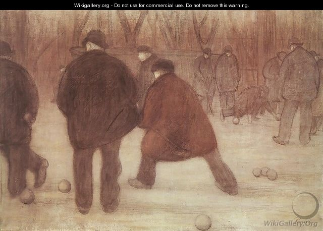 Skittle-players 1892 - Jozsef Rippl-Ronai