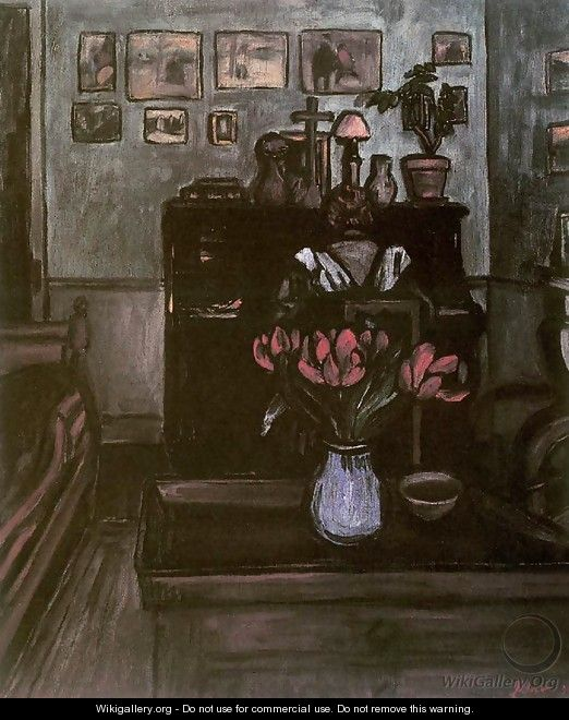 Twilight in an Intimate Room 1894 - Jozsef Rippl-Ronai