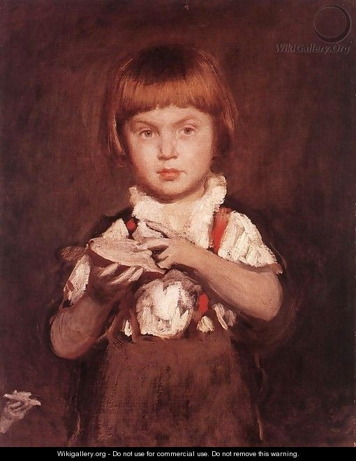 Boy with Bread and Butter c.1875 - Bertalan Szekely