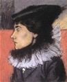 Ms. Laszlo Vago in a Black Dress 1916 - Jozsef Rippl-Ronai
