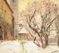 Courtyard in Winter after 1910 - Laszlo Mednyanszky