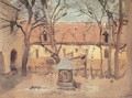 Part of a Courtyard with Well c. 1910 - Laszlo Mednyanszky