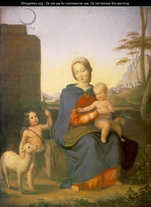 Madonna with the Child and St John the Baptist 1827 - Gabor Melegh