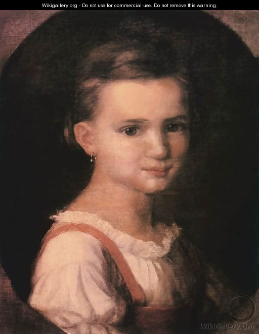 Portrait of the Artrists Daughter 1867-69 - Soma Orlai Petrich