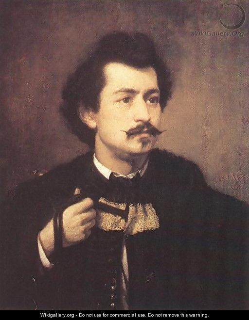Self-portrait 1863 - Viktor Madarasz