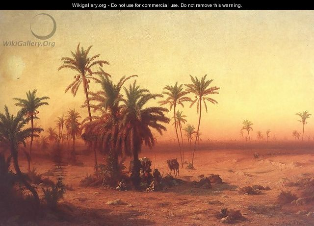 Oasis in the Desert 1862 - Antal Ligeti