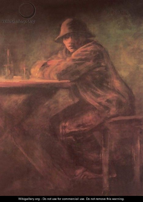 In the Tavern after 1898 - Laszlo Mednyanszky