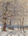 Trees with Hoar-frost c. 1892 - Laszlo Mednyanszky
