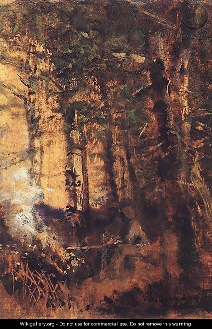 View of the Forest 1890-91 - Laszlo Mednyanszky