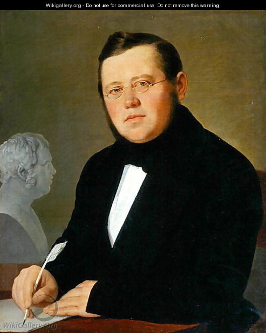 Portrait of the Author Michail Sagoskin, 1830s - Vasili Andreevich Tropinin