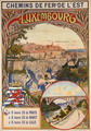 Poster advertising Luxembourg, c.1900 - pseudonym of Trinquier, Louis Trinquier-Trianon