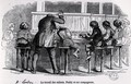 Children working on bobbins in London, Paddy and his companions, from Le Musee des Familles, 1848 - Trichon