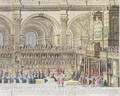 A Prospect of the Choir of the Cathedral Church of St. Paul, on the General Thanksgiving, the 31st of December 1706. Her Majesty and both Houses of Parliament present 2 - (after) Trevett, Robert