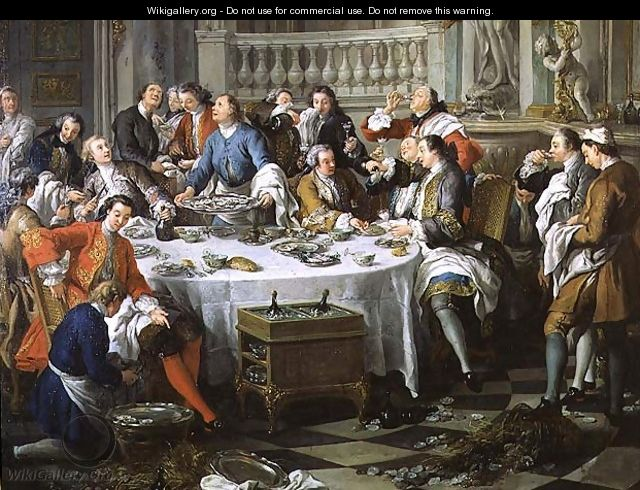The Oyster Lunch, 1734 - Jean François de Troy