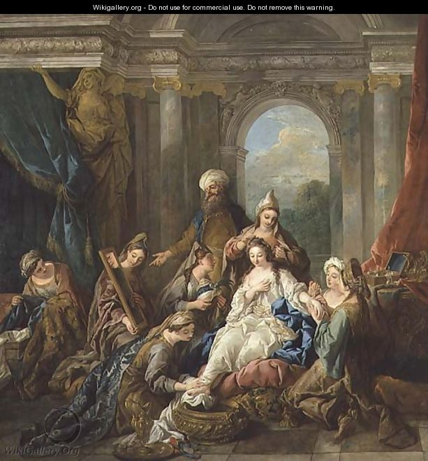 The Toilet of Esther, 1738 - Jean François de Troy