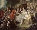 The Hunt Lunch, detail of the diners, 1737 - Jean François de Troy