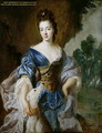 Portrait of Mary d.1725 Daughter of the 1st Marquis of Powis, as Diana - Francois de Troy