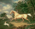 A Palomino frightened by an oncoming storm with a Spaniel, 1814 - Charles Towne